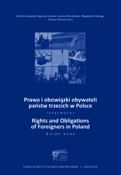 Rights and obligations of foreigners in Poland – new edition